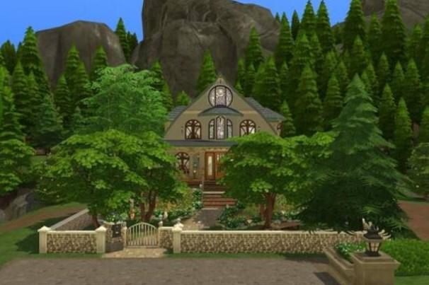 casa de campo para sims 4