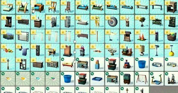 objetos desbloqueados en los sims 4