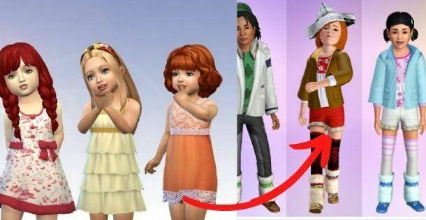 como hacer crecer un Sim niño a adulto o adolescente
