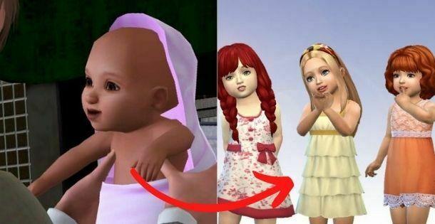 como hacer crecer un sim de bebe a niño