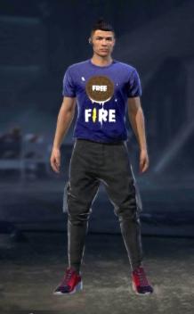 playera de galleta azul free fire