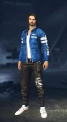 chaqueta azul free fire veterano