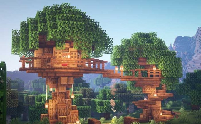 Casa del árbol de Minecraft