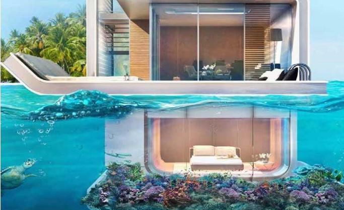Casa moderna submarina