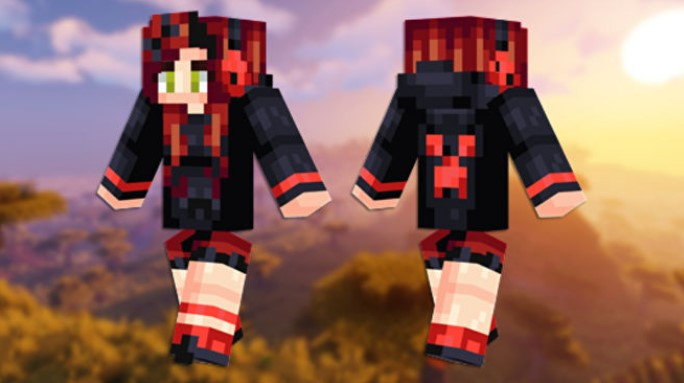 Skin de Creeper rojo